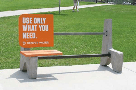"""""""Use Only What You Need"""" Bench"""