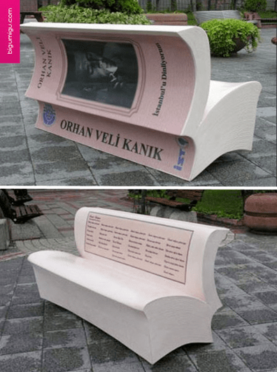 Istanbul's Book Benches