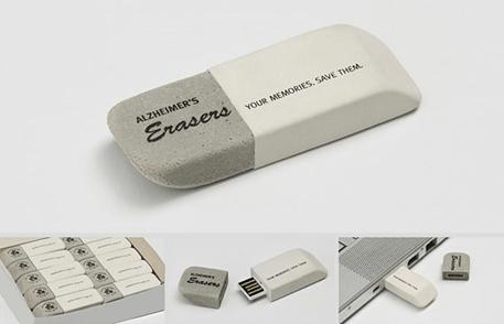 Alzheimer's New Zealand: Eraser USB Stick