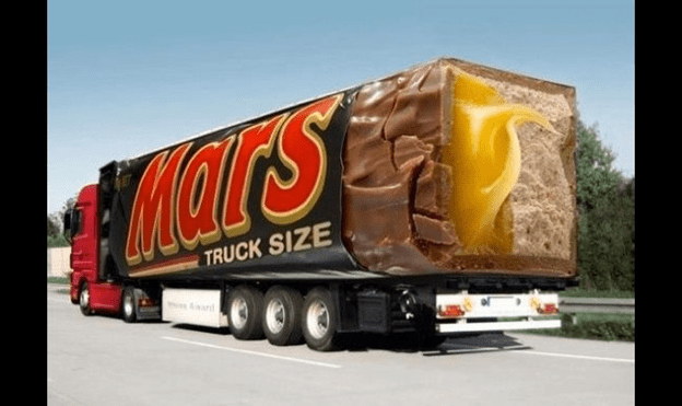 A Truck-sized Mars Candy Bar